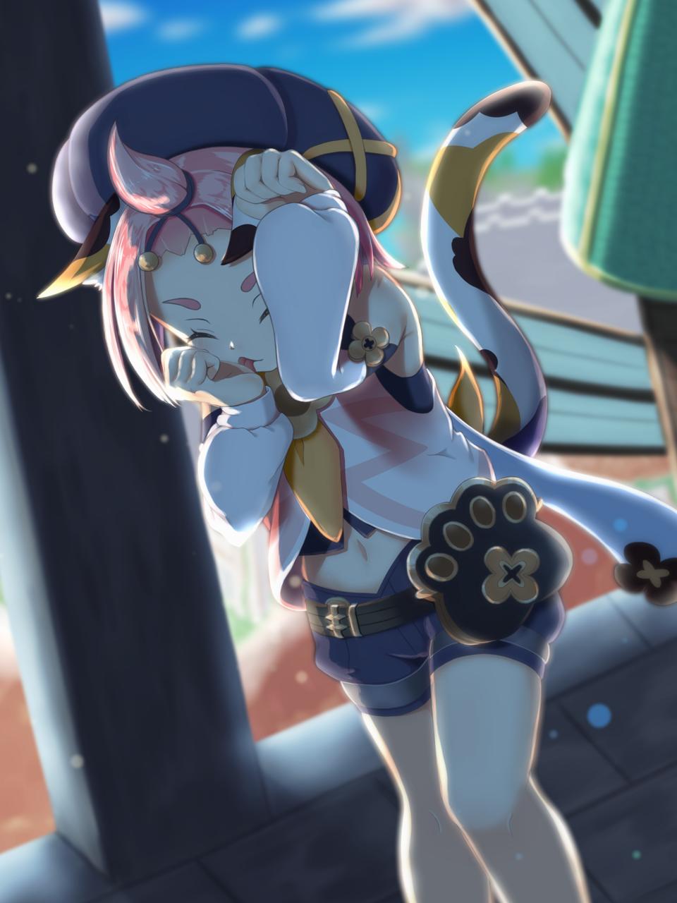 猫じゃないにゃ! Illust of koneko2000 nice cat_ears ディオナ 逆光 獣耳 ディオナ(原神) GenshinImpact