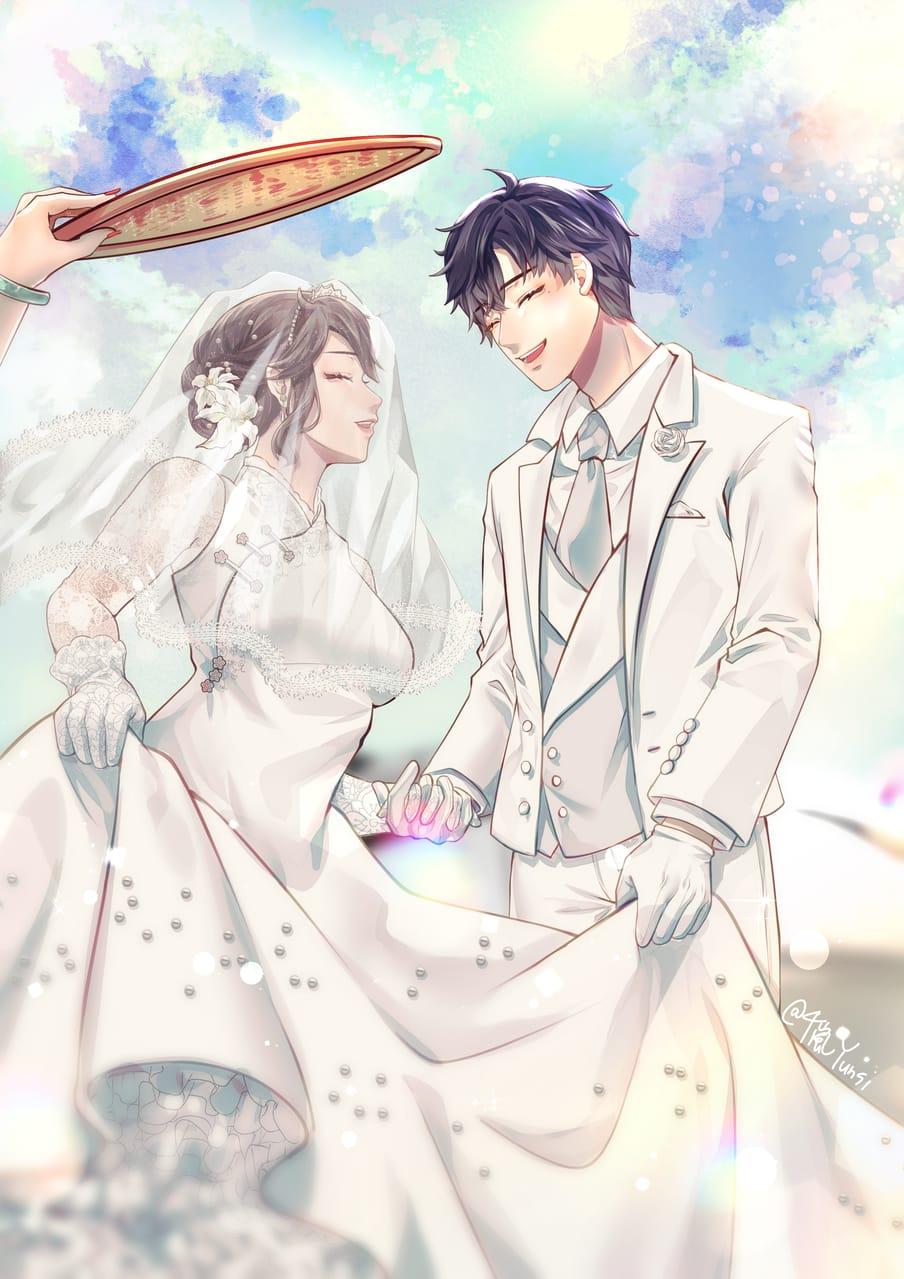 亦心9/9 久願 Illust of 千嵐Yunsi oc wedding 李心嵐 original 鄭亦希