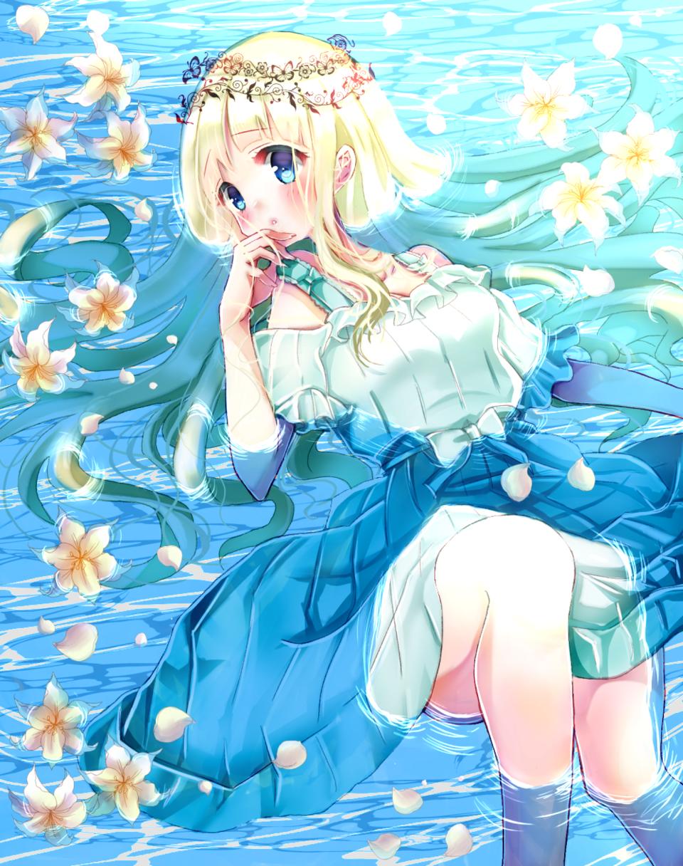 花と少女 Illust of みつ猫 girl original