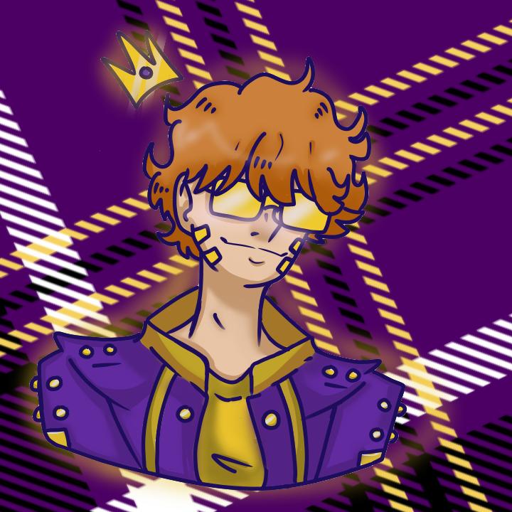 Some pfp for a friend  Illust of Paper medibangpaint purple cute Pfp King Sunglasses