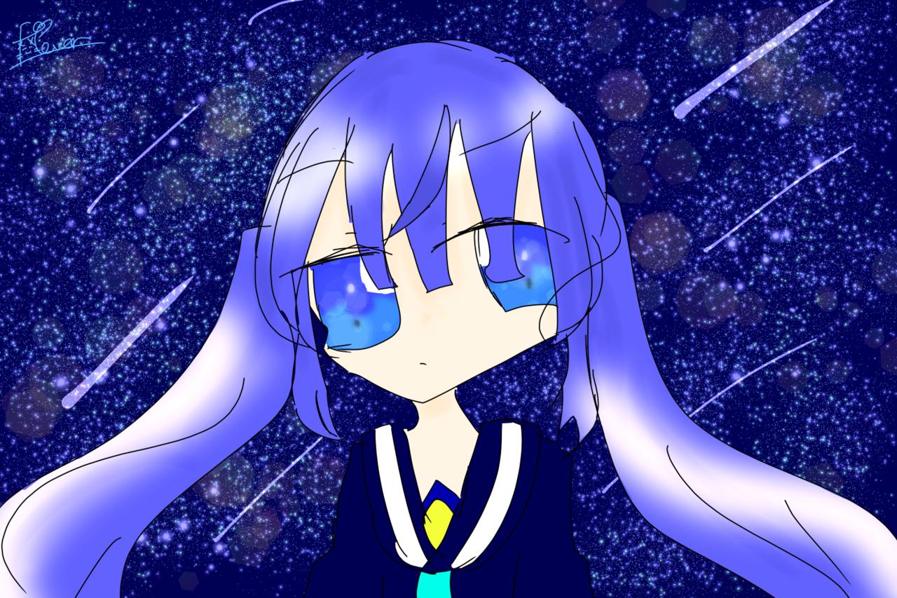 星空と__ Illust of ふらわー jumppaint YUTTAN☆゛ starry_sky 星の降る夜に 不死神心 @YUTTAN色 like20件突破ありがとう