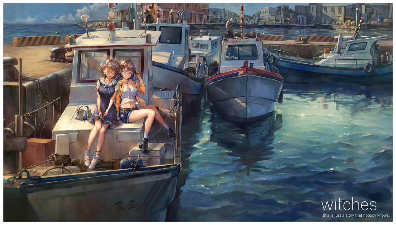[Witches] 20200419  Illust of 紀尋 background girl sea original