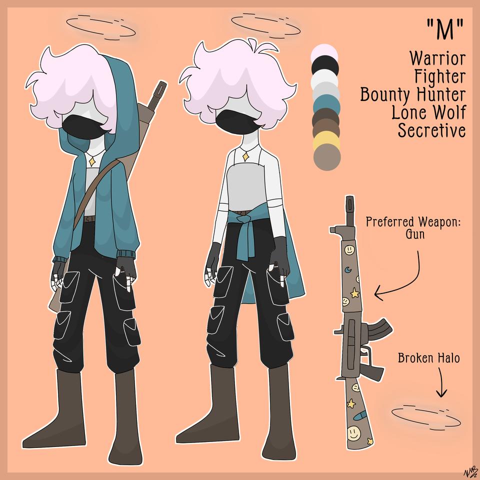M Illust of Maehem medibangpaint aesthetic character unique Gun oc use cute pallet au cool