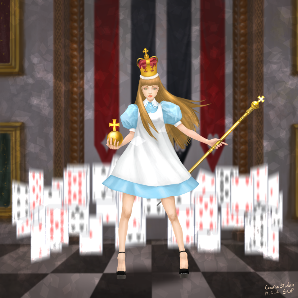 Alice_The Queen of the cards
