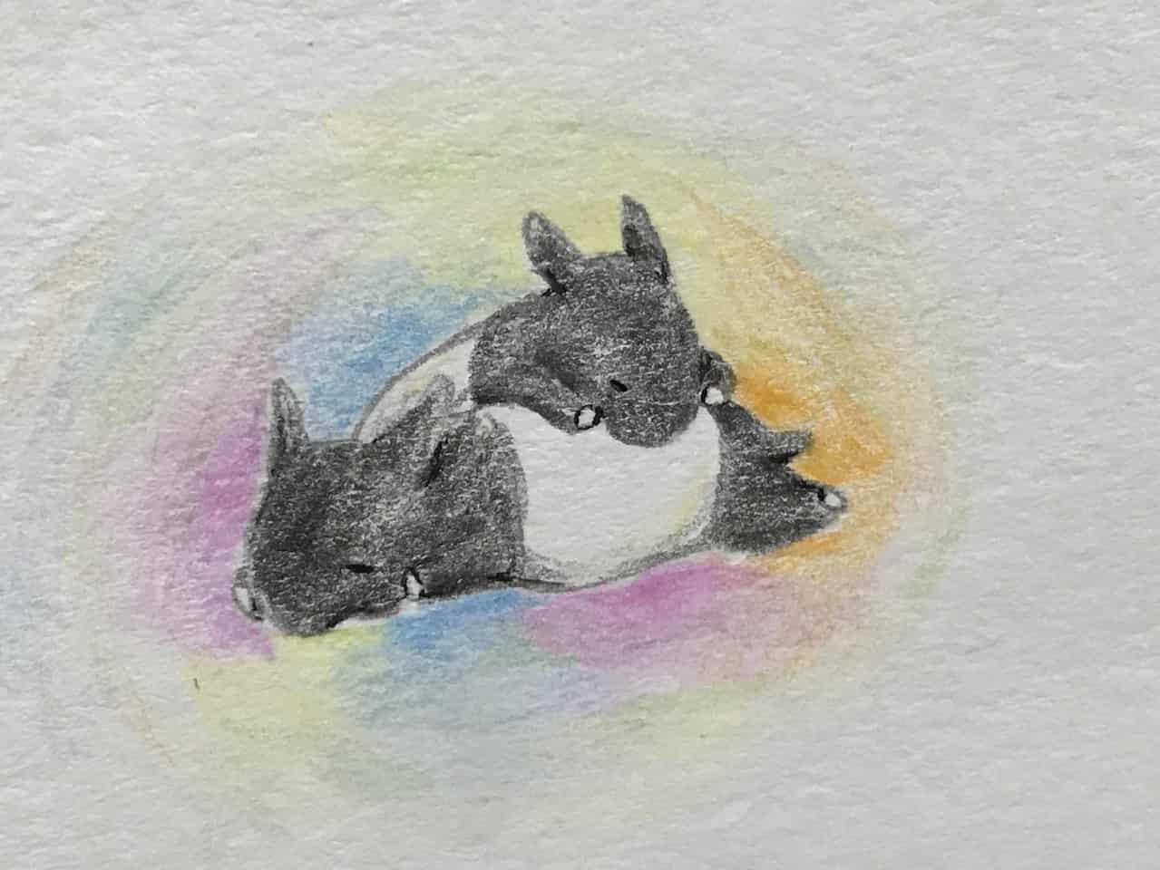 ばくすいバクちゃん Illust of なっちゃん バク 色鉛筆絵