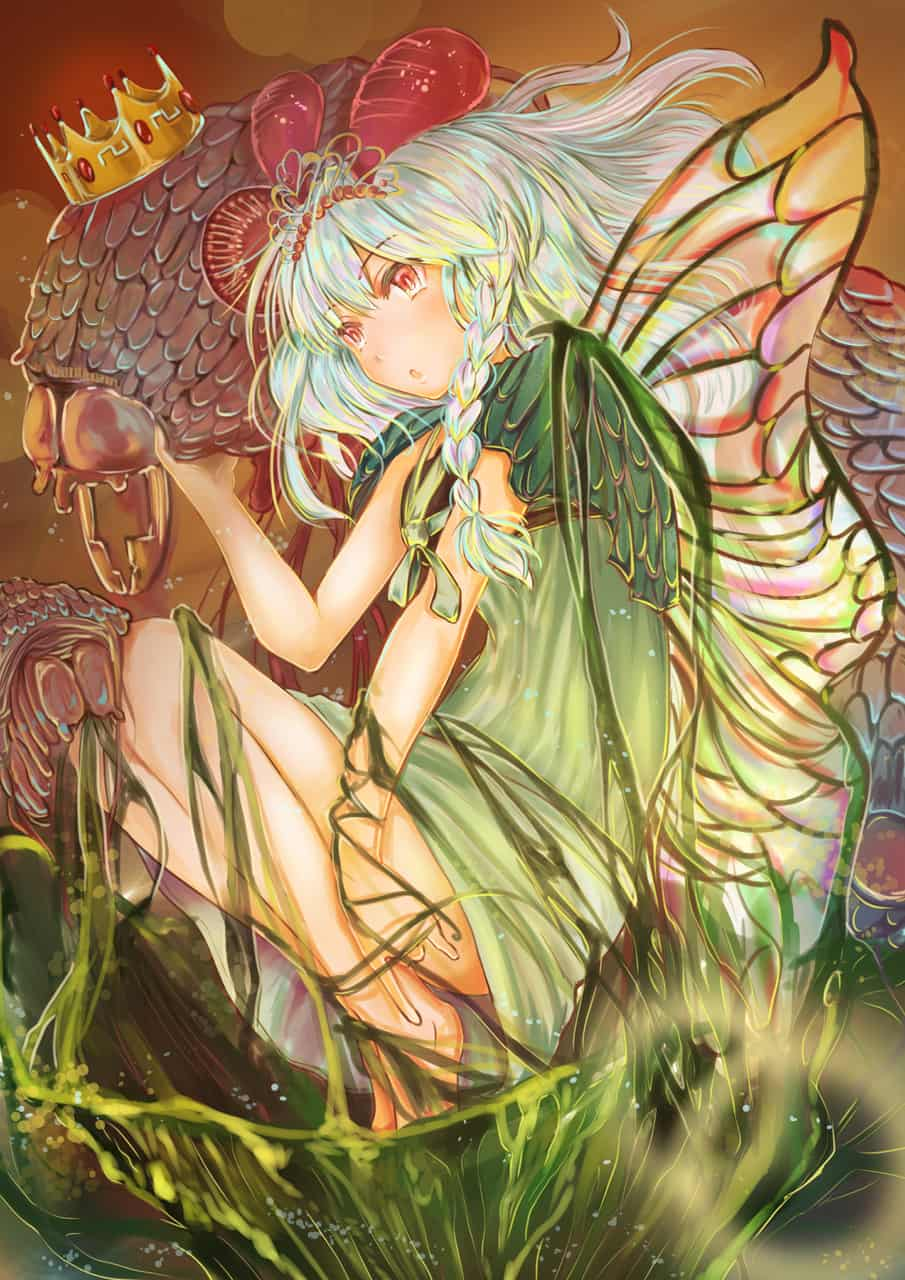 王女和王子的誕生 Illust of 糊圖 ARTstreet_Ranking original girl 蝴蝶 medibangpaint illustration 銀髮 原創角色