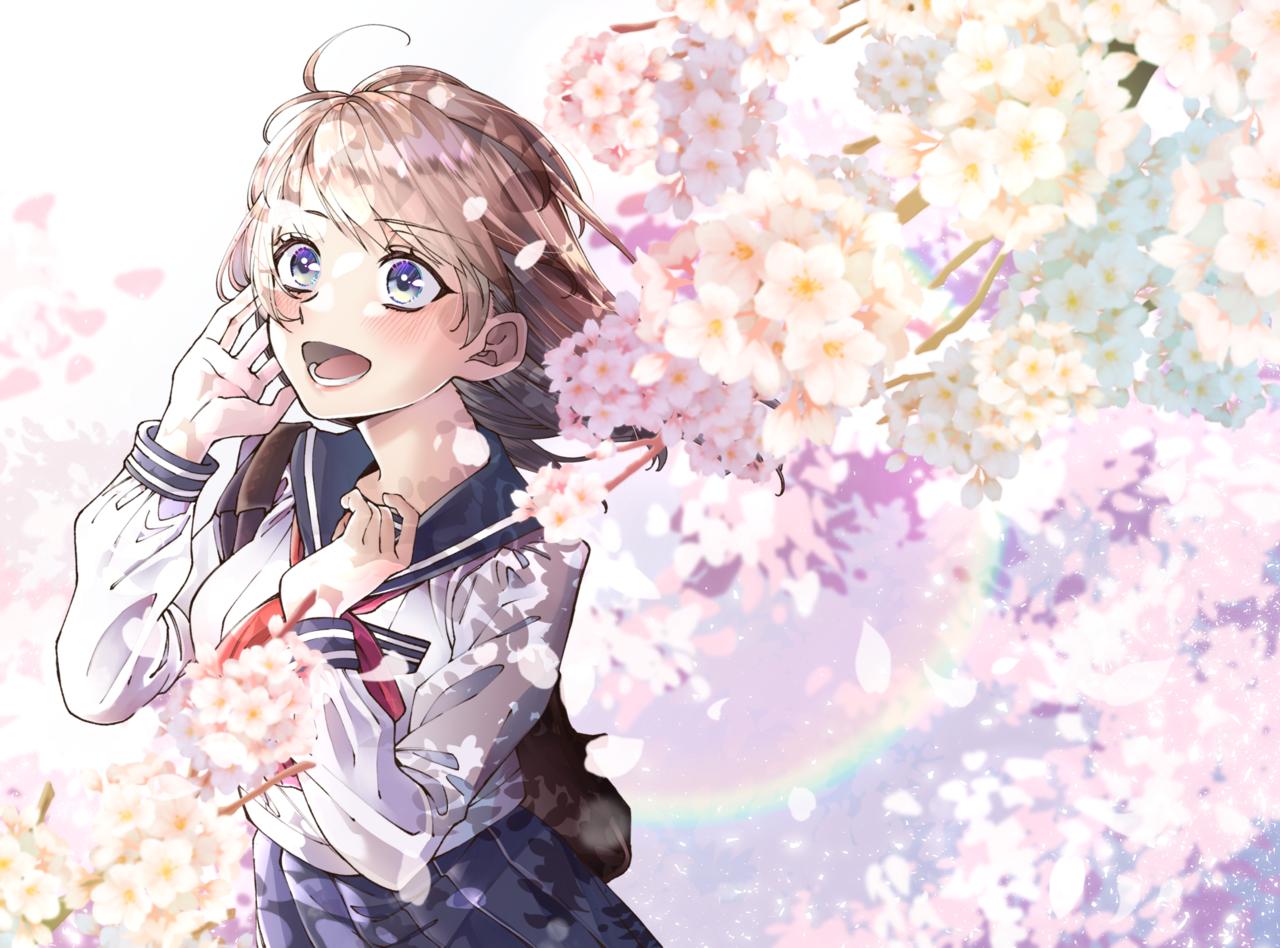 サクラ咲け!!! Illust of 春夏 sakura 女子高生 oc uniform girl sailor_uniform original