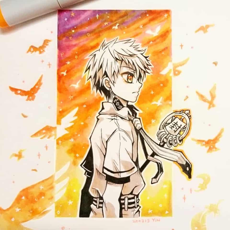 光くん Illust of yinhidaka boy Copic hanakokun Toilet-boundHanako-kun 花子くん doodle 源光 handdrawn