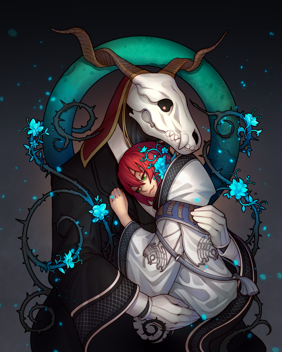 The guide and the light (Mahoutsukai no yome) Illust of MoDathan fantasy ARTstreet_Ranking magic fanart Mahoutsukainoyome Elias love Ainsworth Chise redhead