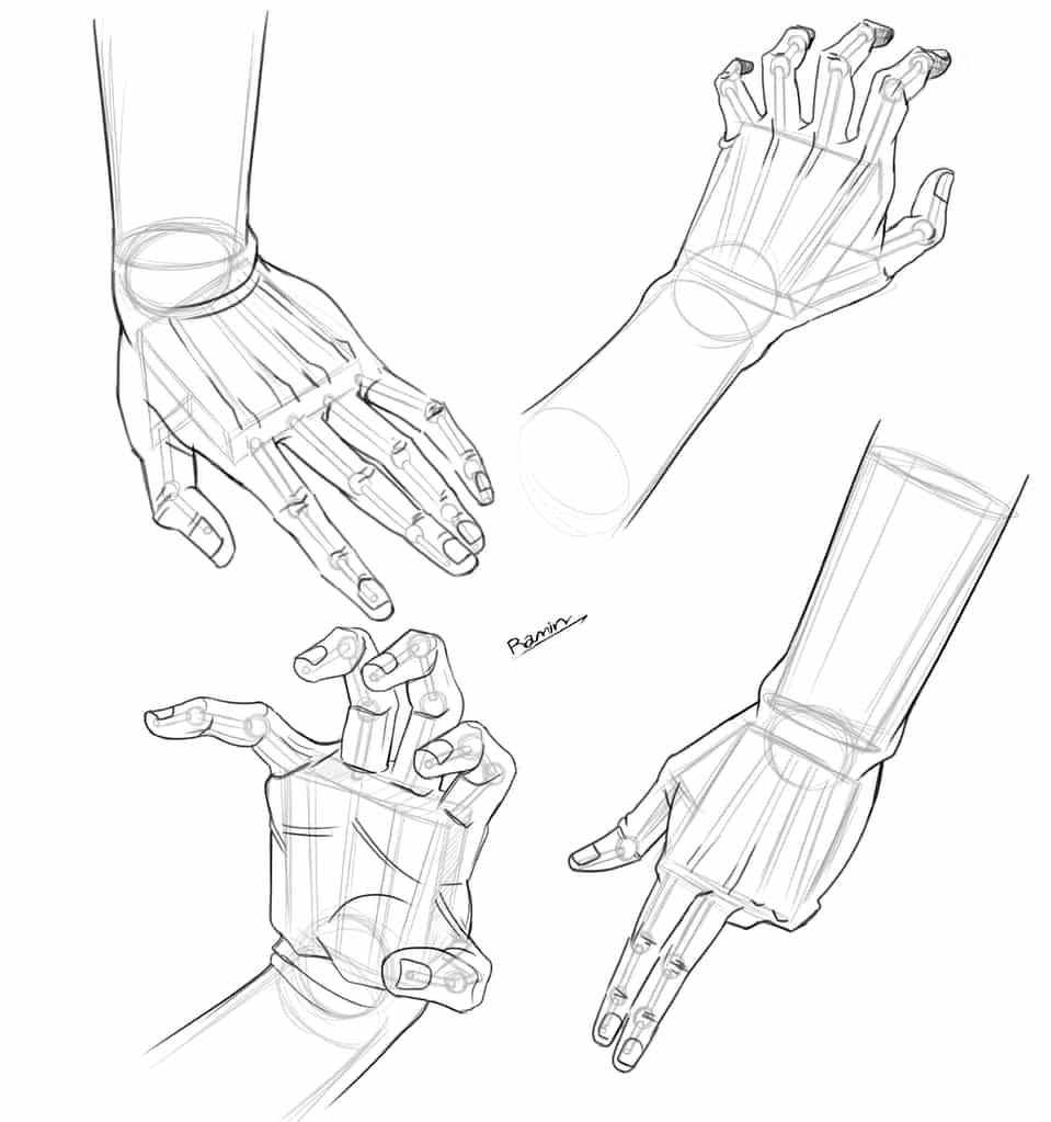 tutorial drawing hand Illust of ramin memarzade digital raminmemarzade drawing Drawings Artwork design tutorial Conceptart illustrations digitalpainting