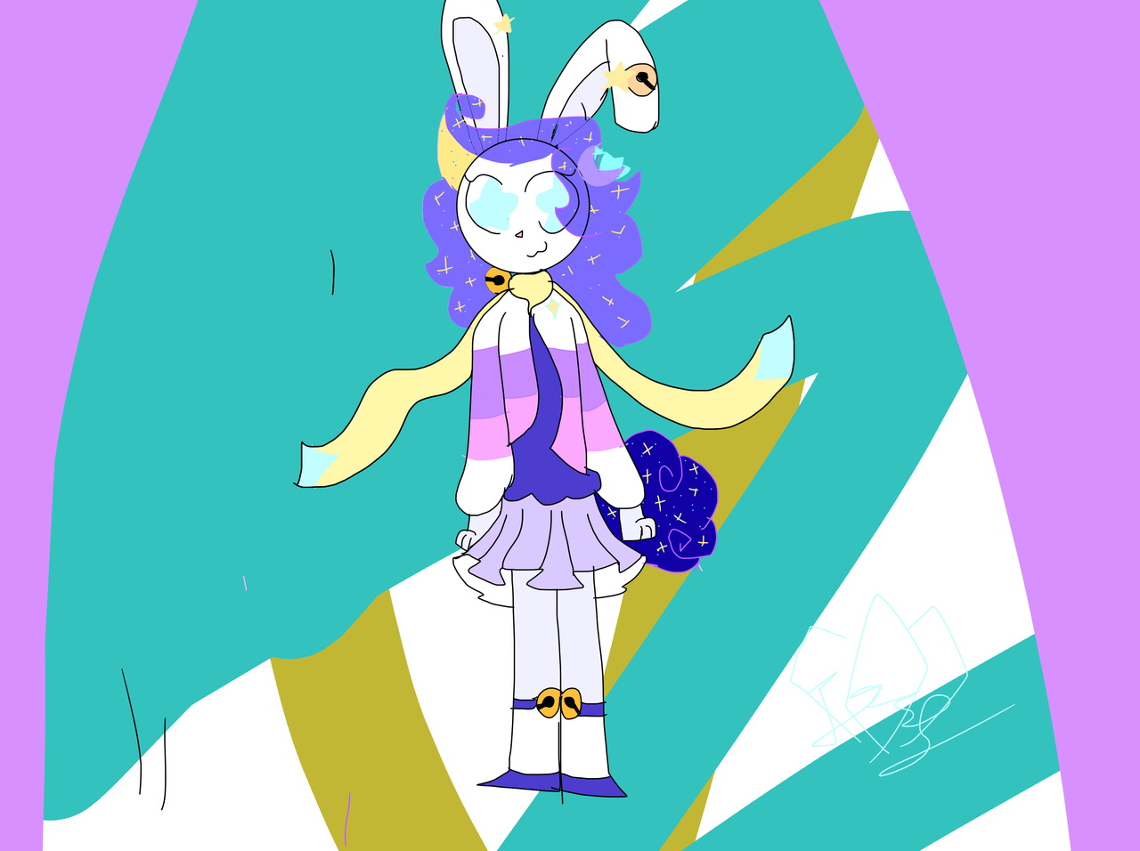 izzy the happy hare! Illust of Hoshi travels the cosmos medibangpaint