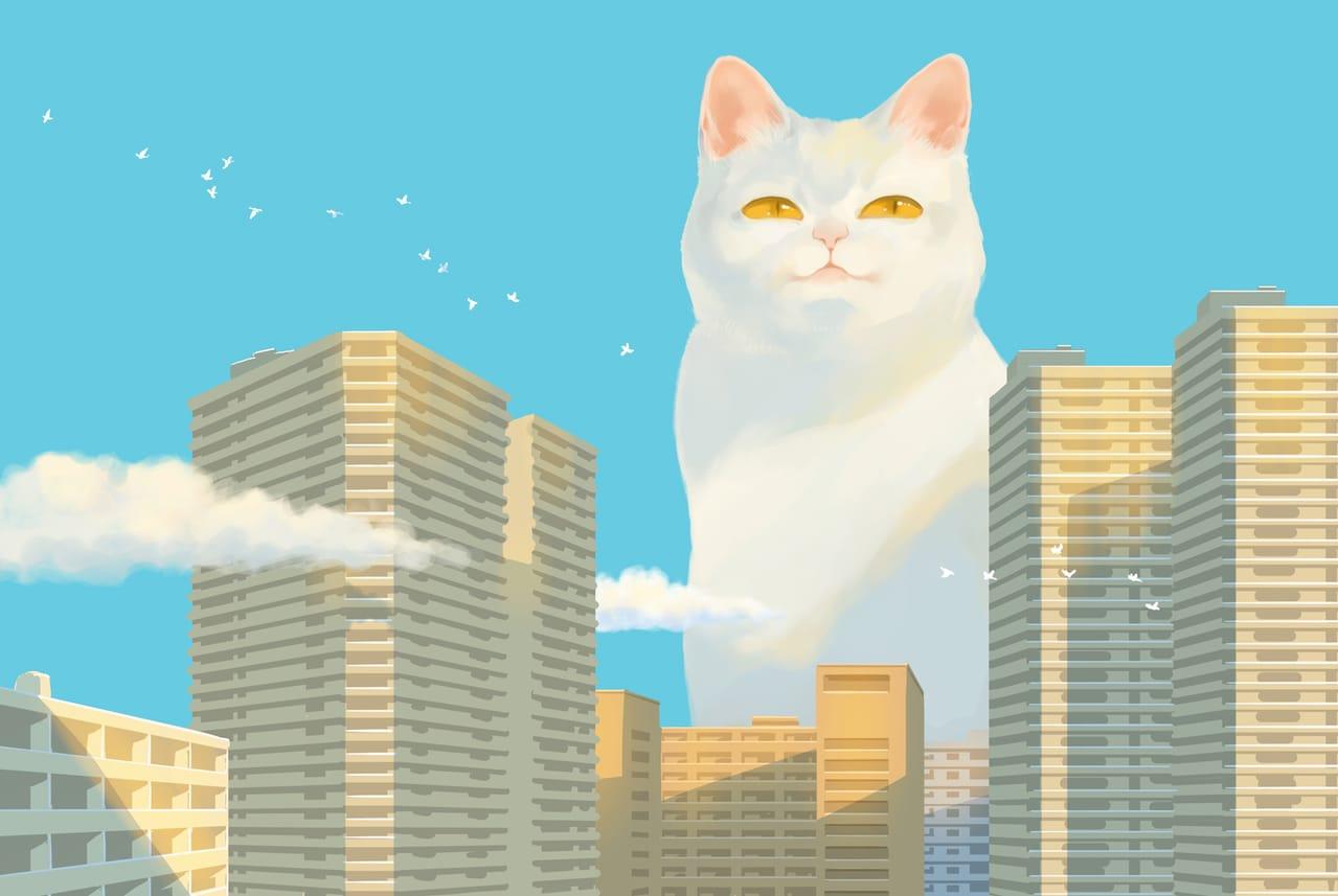 都市空に棲む Illust of 砂虫隼 March2021_Creature sky animal monster original cat medibangpaint