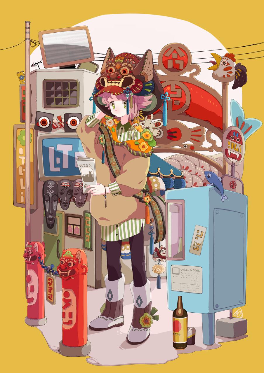 迷ったぞ Illust of 餅村そらた ファッション original boy