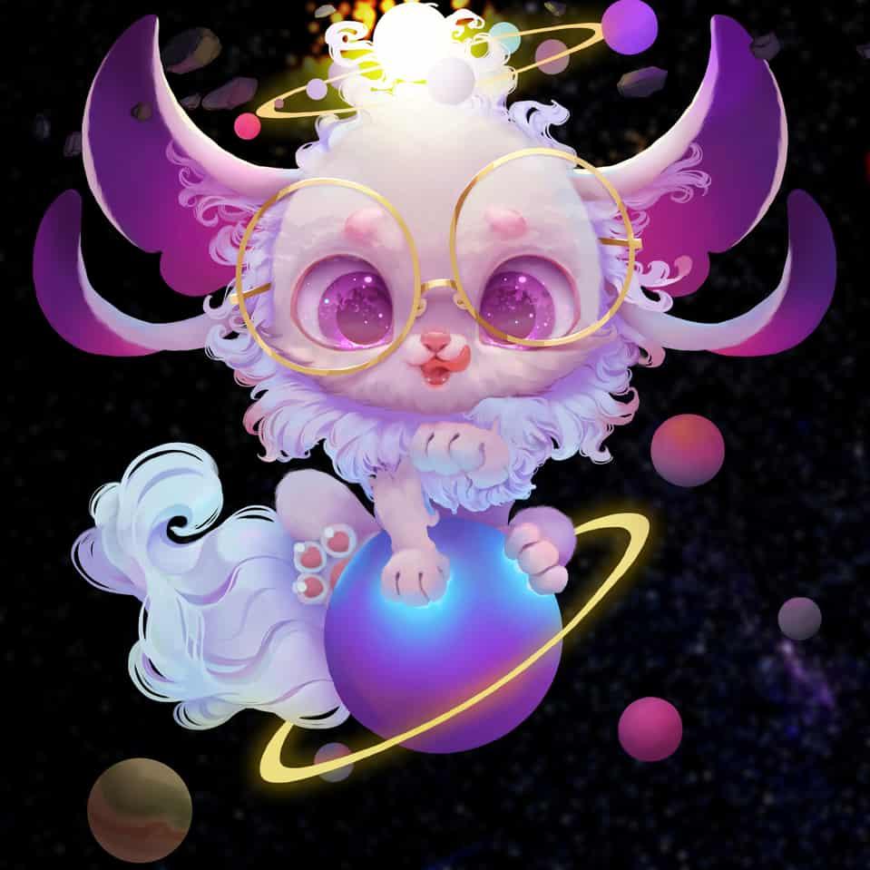 Cute Thing Illust of JoAsLiN original fur painting eyes oc cute illustration gold furry digital