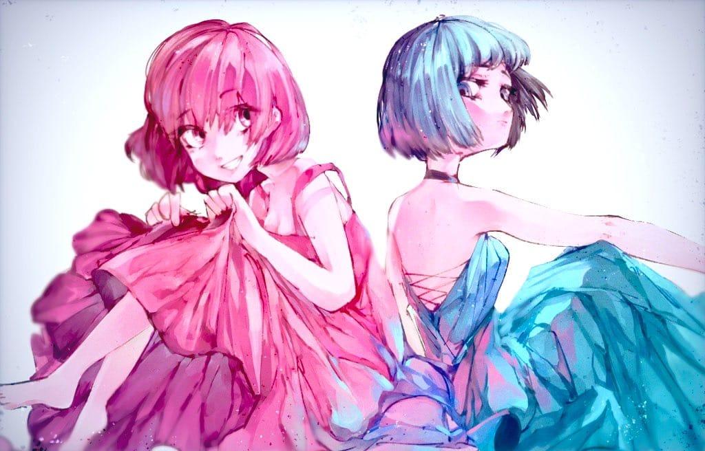 混ざり合う Illust of あみみん original girl ibispaint oc impasto Beautiful