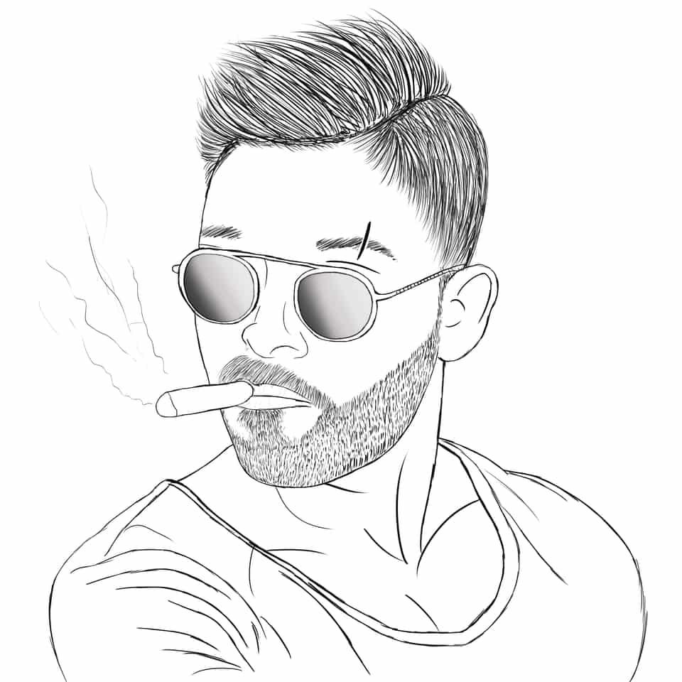 Aa Illust of brave john Original_Illustration_Contest ARTstreet_Ranking medibangpaint line_art hero cool manga cigarette Hot