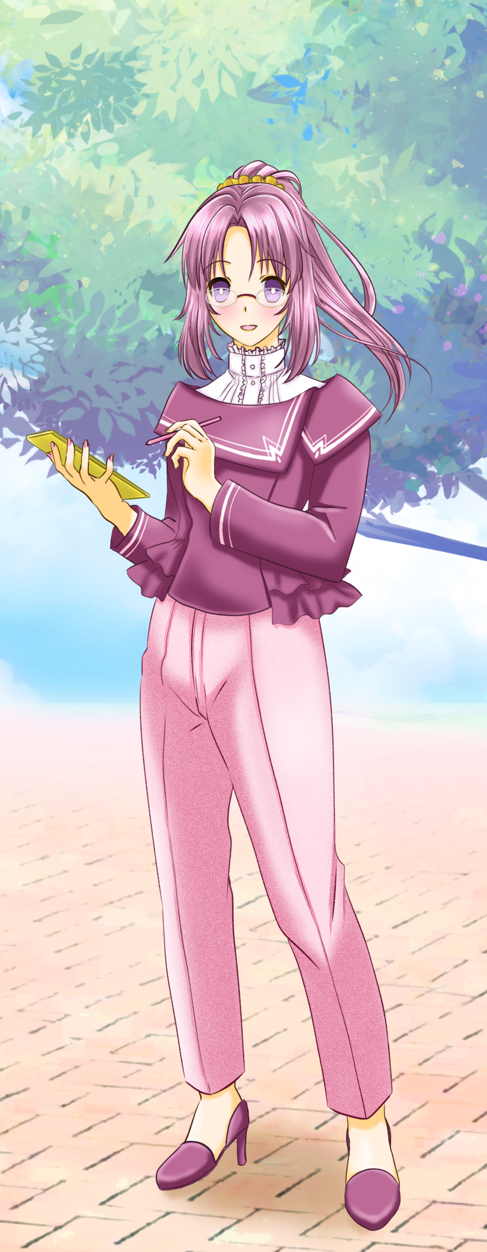 PASTEL SKETCH_PINK Illust of 鞠嘉 PASTEL_SKETCH2020 pink