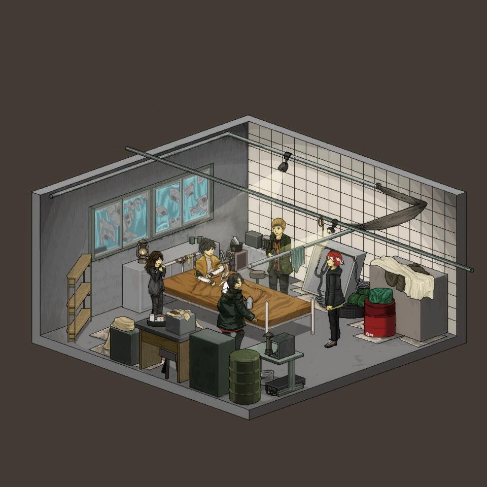 スモーキーの部屋 Illust of 雑草和壱 fanfic pixelart