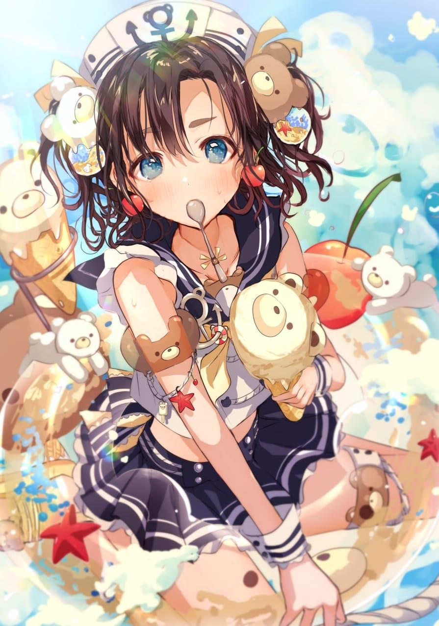 クママリン Illust of Peach☆Punch くま girl ice-cream
