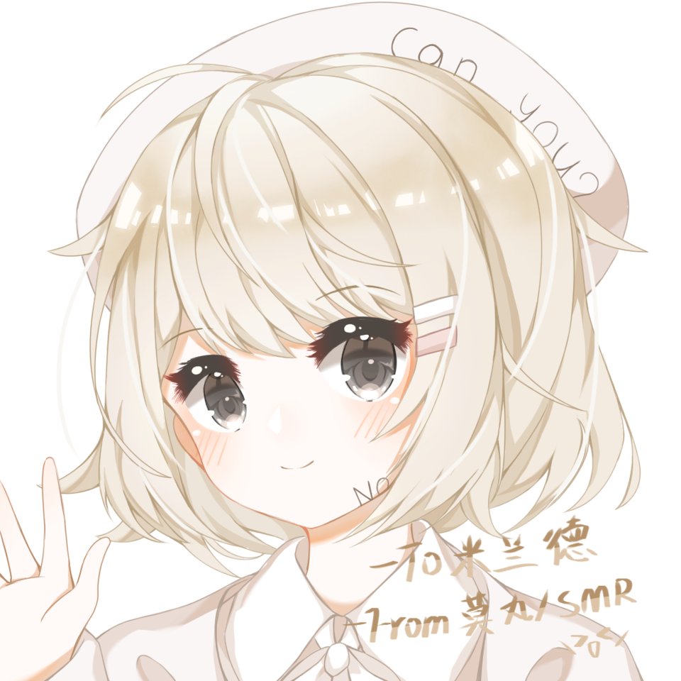 是给米兰德老师的!🌹🥺🌹 Illust of 莫丸——!XD medibangpaint girl white_hair portrait cute animegirl