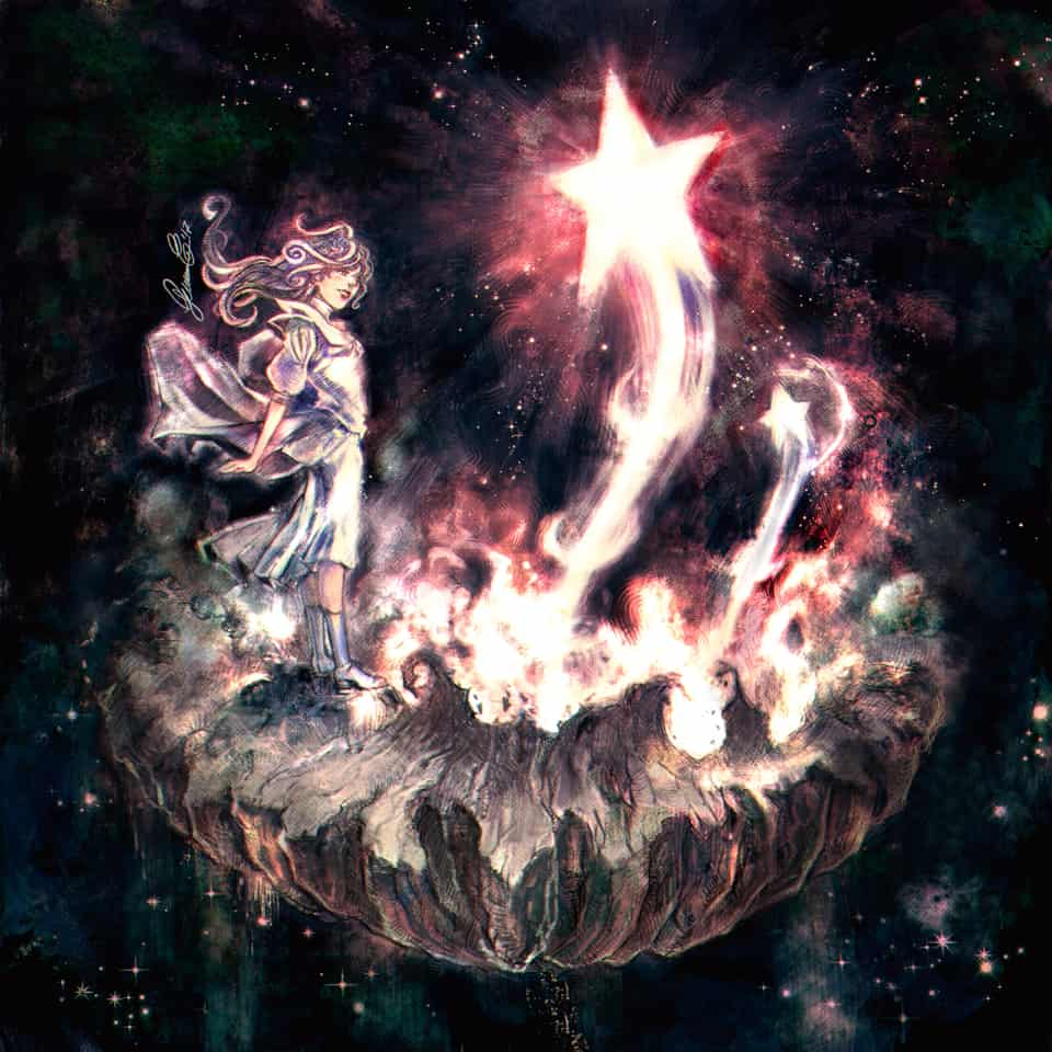 Where Wishes Are Born Illust of Ico-dY fantasy Jan.2020Contest newyear burning universe star countdown explosion wish