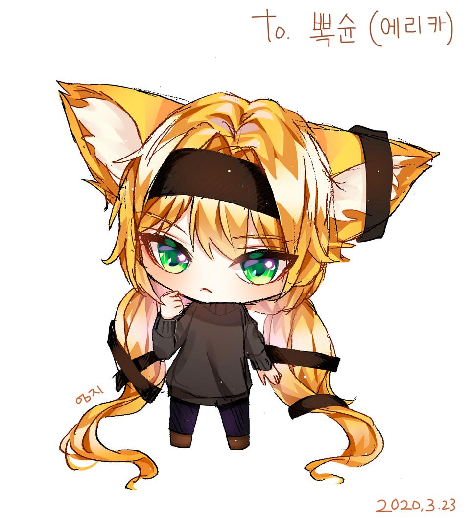 뽁슌님 리퀘 Illust of 엄지손가락👍 medibangpaint animal_ears ちびキャラ