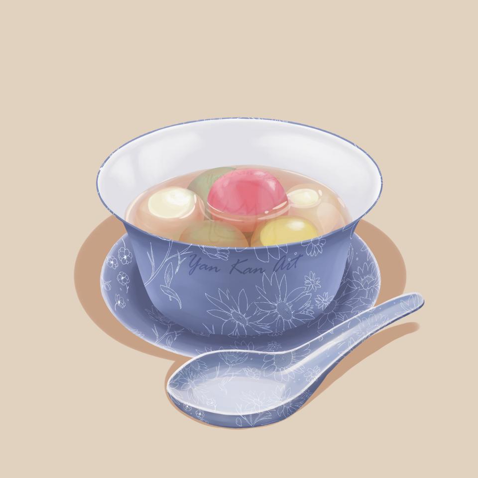 Tangyuan Illust of Yan dessert sweet tangyuan yummy food bowl