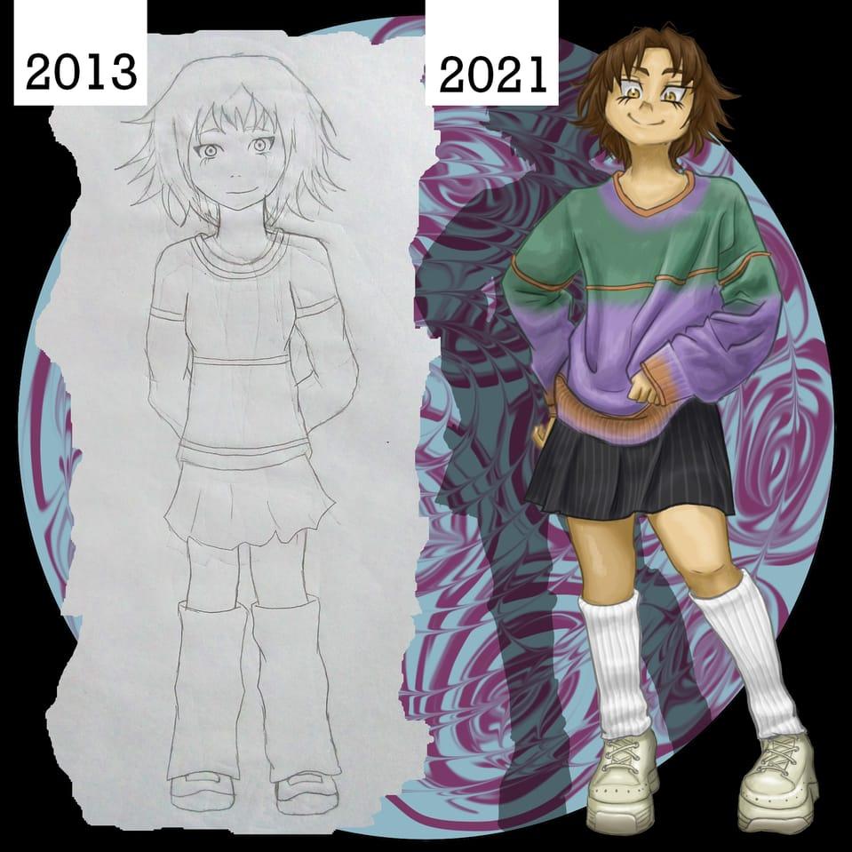 rediseño de un personaje de hace 8 años... #1 Illust of Nurru rediseño characterdesign diseñodepersonajes Characterdesing femaleoc characterdesing diseñopersonaje