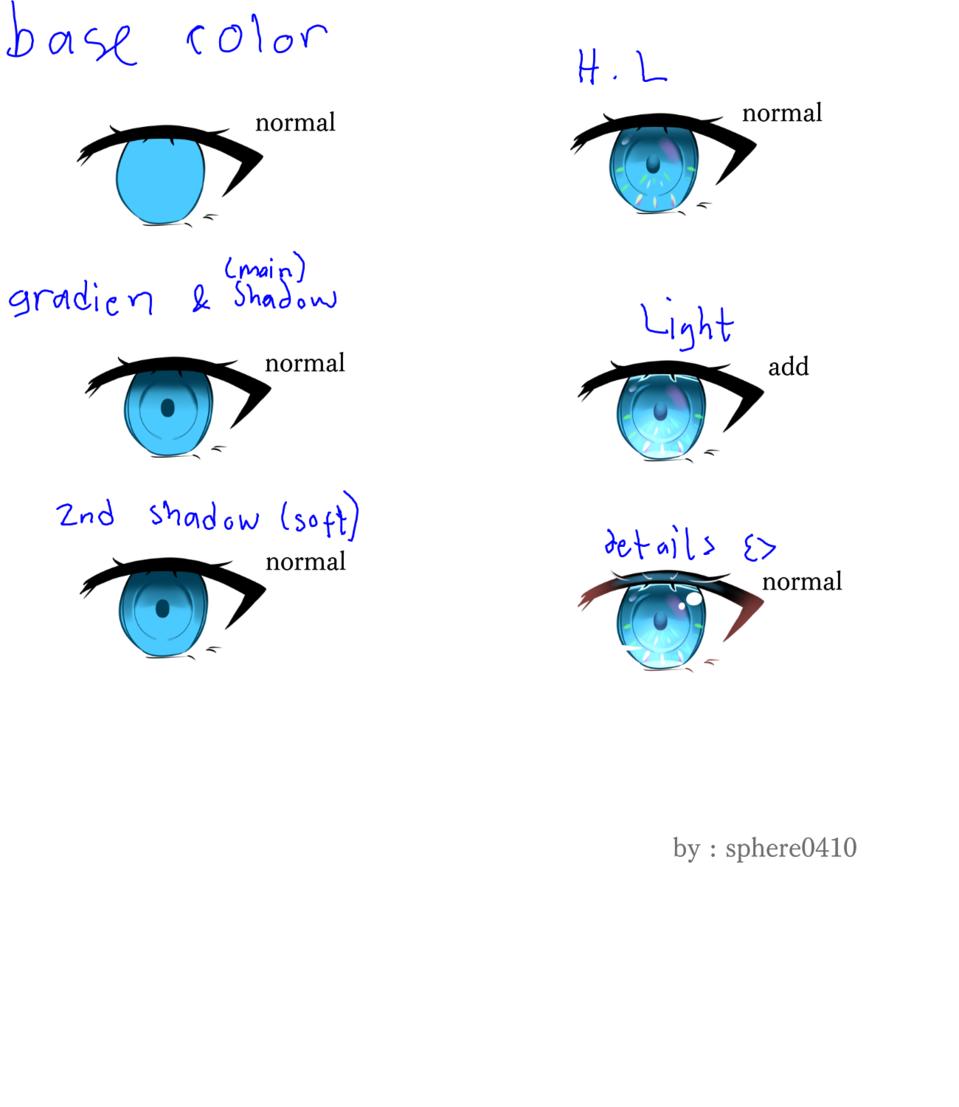 How i color the eyes Illust of Sphere0410 The_Challengers メイキング 講座 目イキング medibang tutorial original eyetutorial eyes medibangpaint
