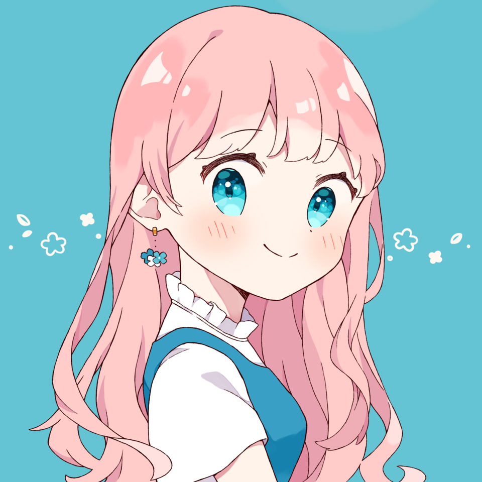 女の子 Illust of なぽ Post_Multiple_Images_Contest blonde girl oc original pinkhair