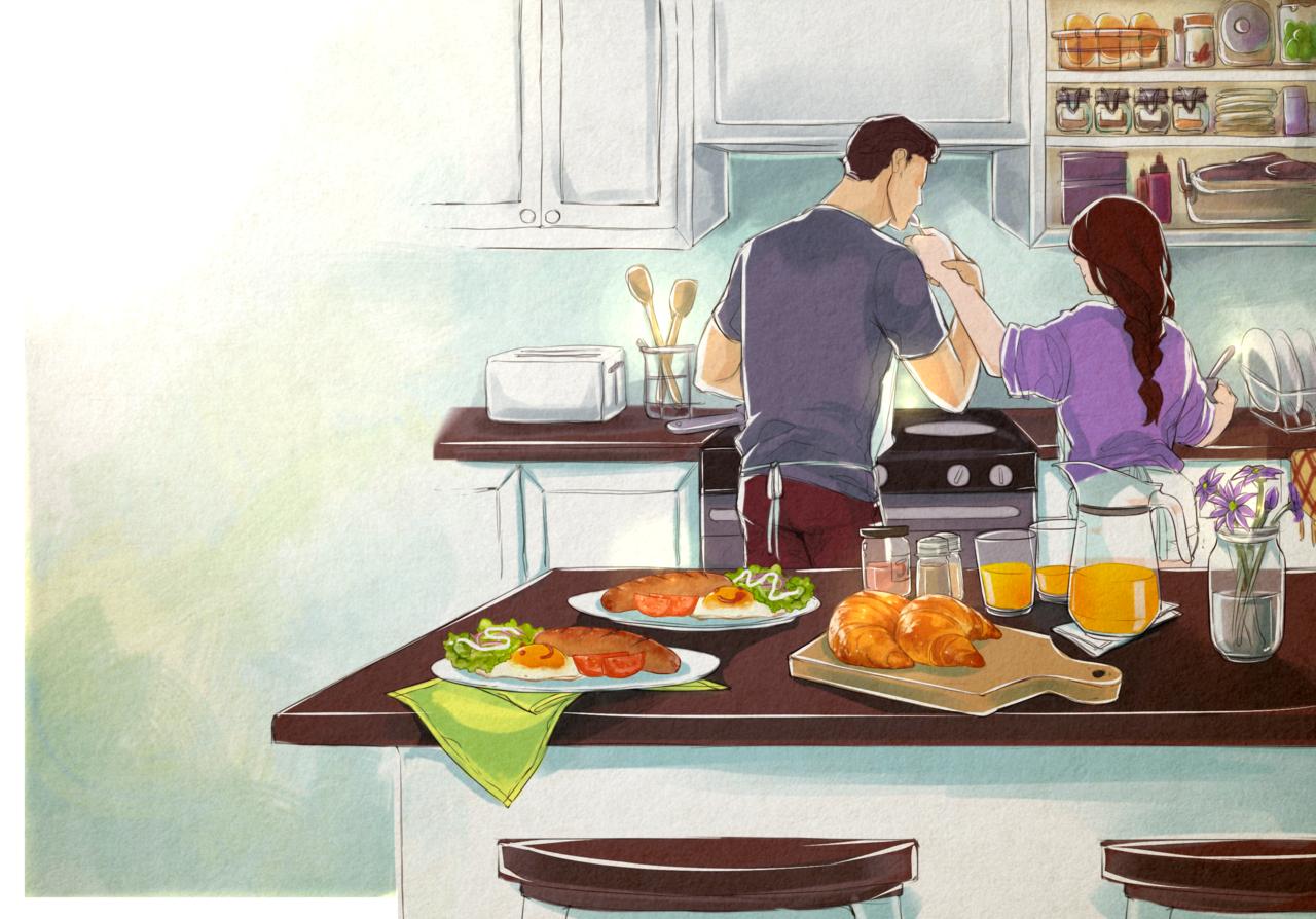 Breakfast Illust of jiombij October2020_Contest:Food