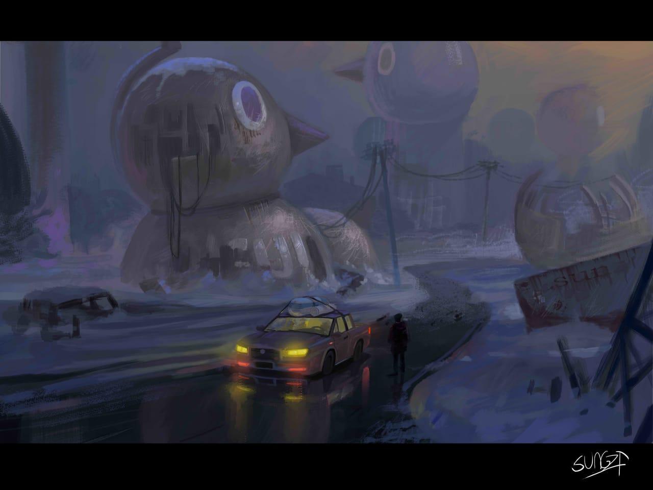 废墟 Illust of SUN6ZF November2020_Contest:Cyberpunk 场景
