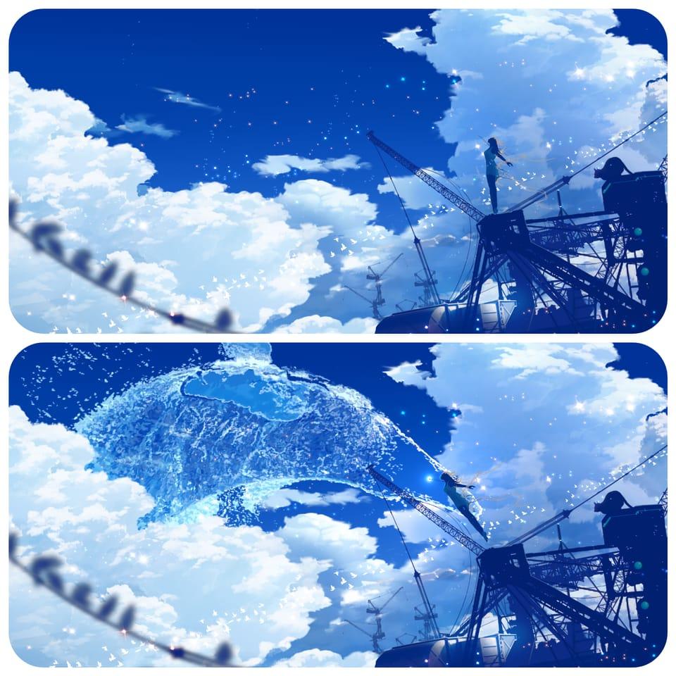 クジラ座流星群 飛ぶ Illust of まころん☆ art イラスト好きな人と繋がりたい sky star kawaii anime illustration scenery 美少女 oc