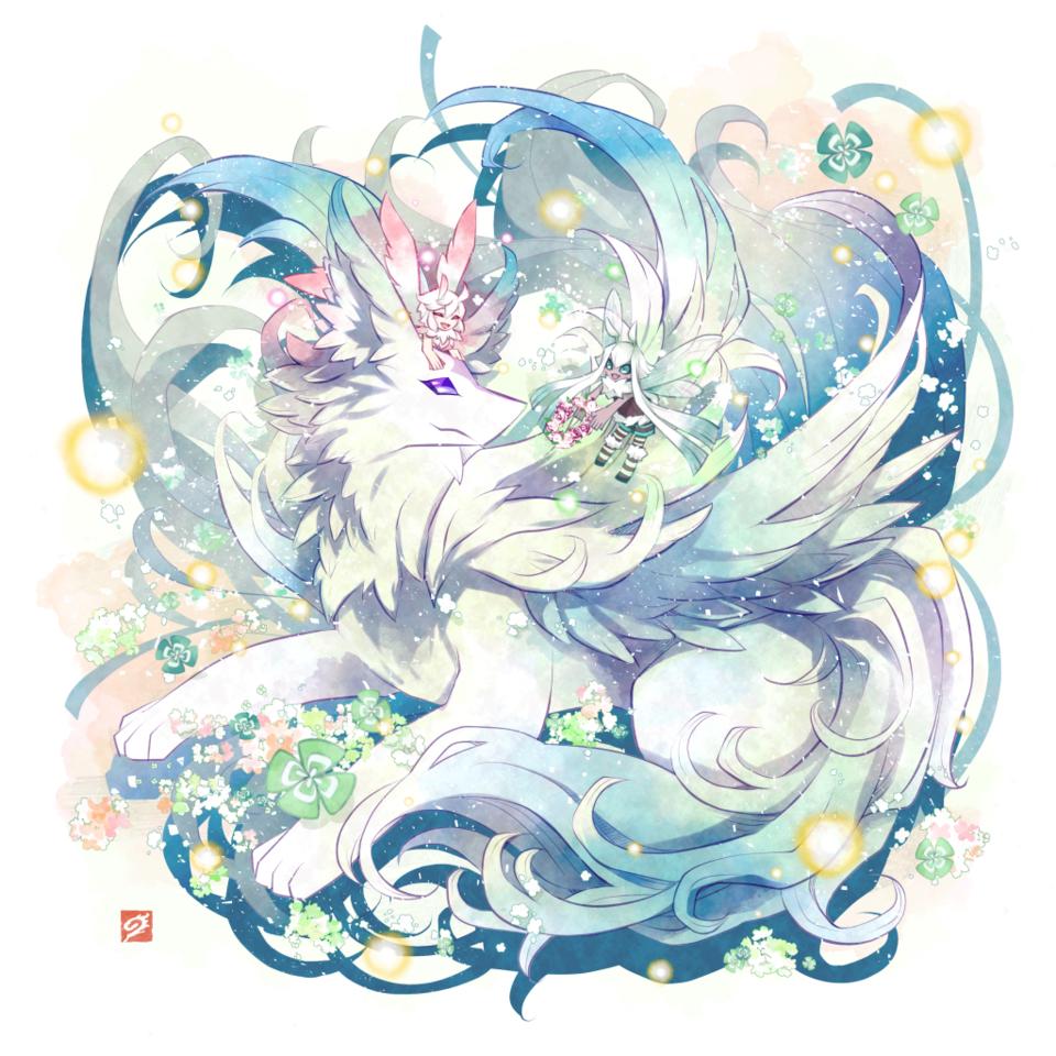 春の使者 Illust of 九廸じゃく green original 春 fairy dragon モフモフ furry