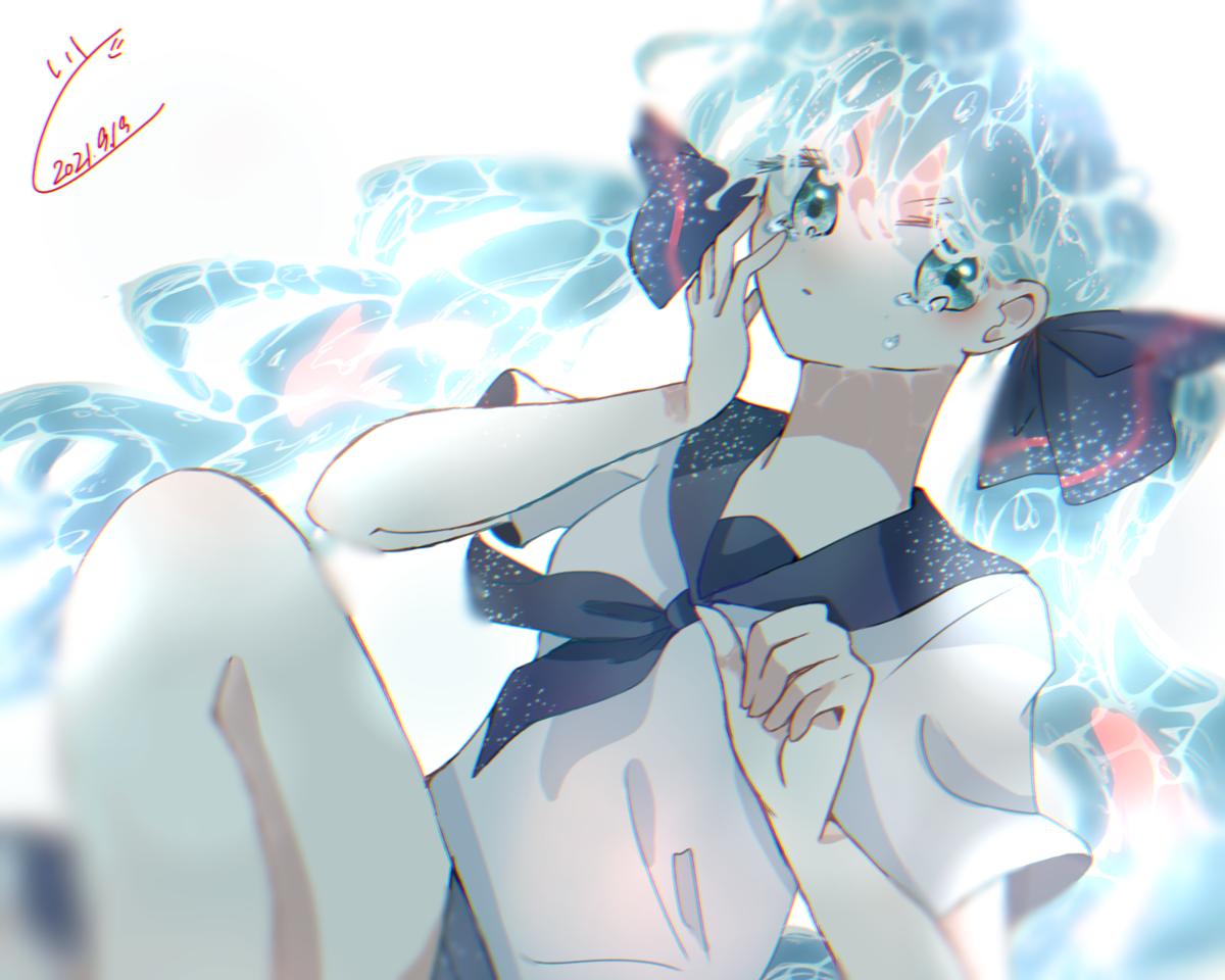 ぼとるみく Illust of 糸織いと hatsunemiku girl water digital blue アイビスペイント ボトルミク