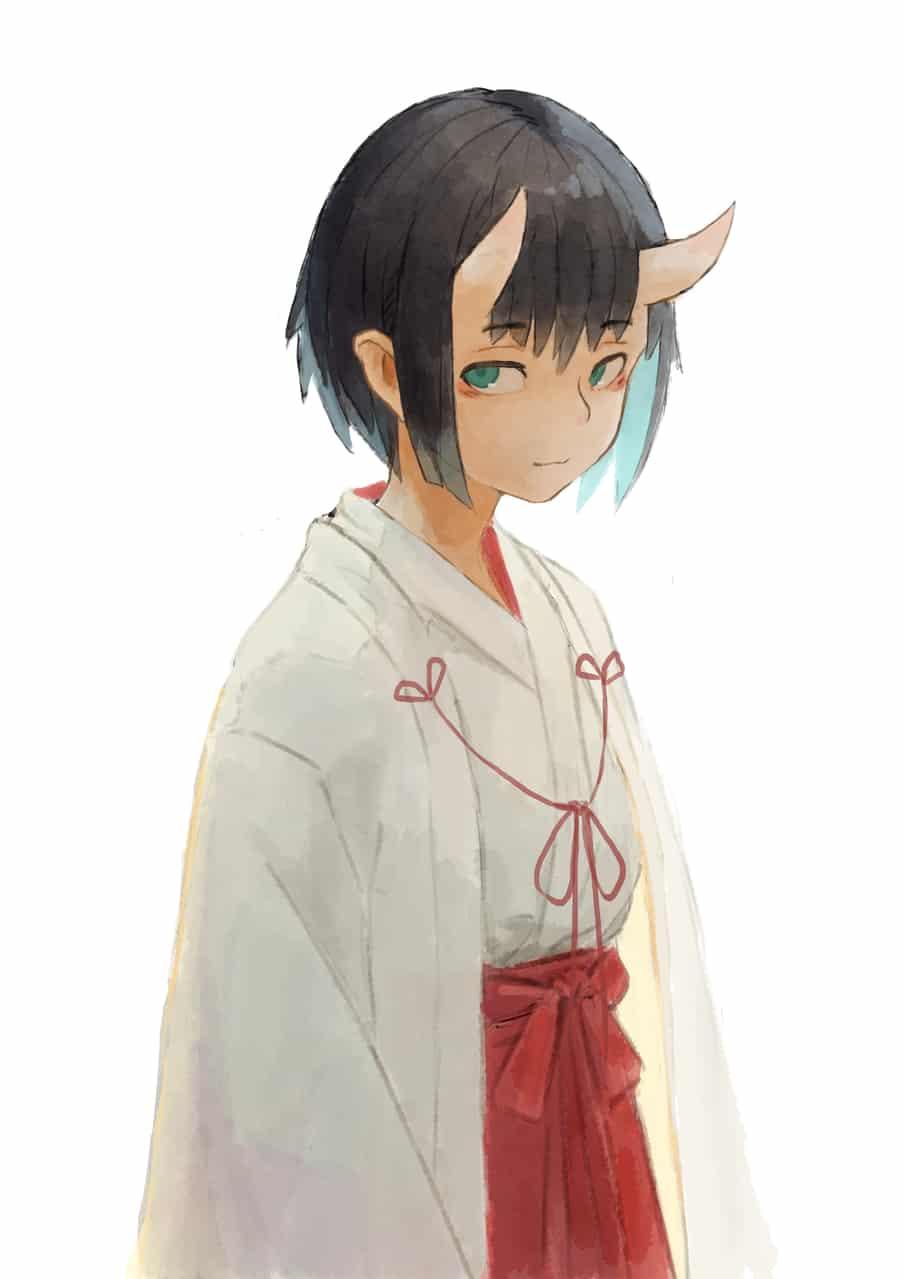 ? Illust of OTHERS 巫女 人外 鬼娘 original