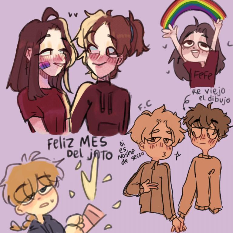 🏳️🌈 :D  Illust of 🍲 F . C 🍲 BL LGBT Pride Girls oc Noodle