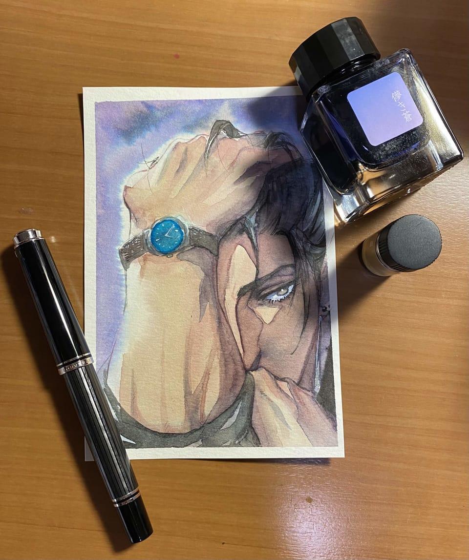 刻 Illust of 桐生 インクだまりのアトリビュート original AnalogDrawing