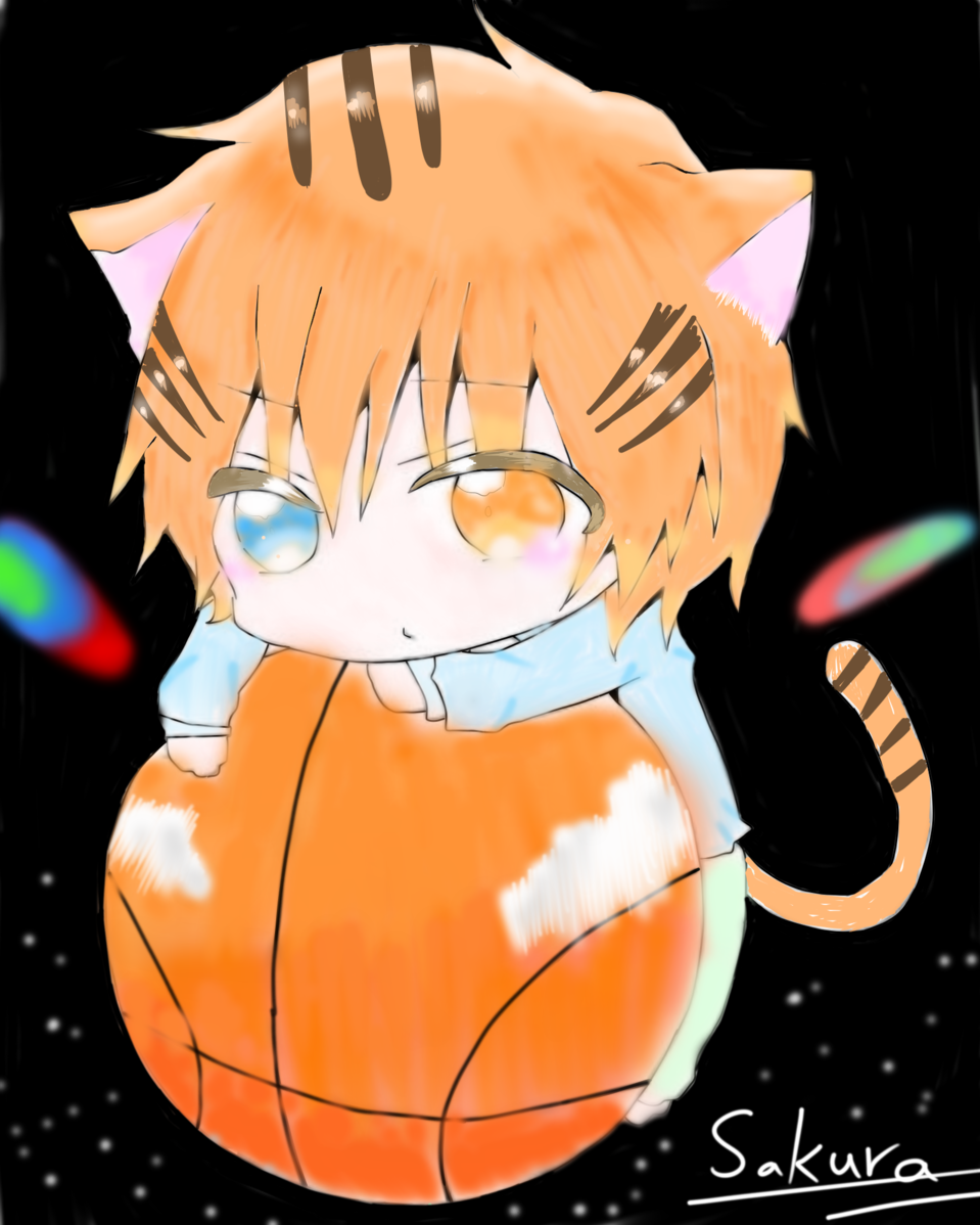 小虎班 Illust of sakura 🌸 medibangpaint 虎 貓男 電繪 男孩 cute 老虎 貓
