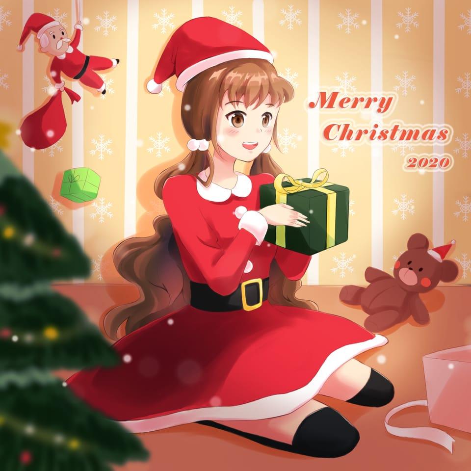 Merry Christmas 2020  Illust of RenRen December2020_Contest:Santa MerryChristmas Christmas 메리크리스마스 メリークリスマス