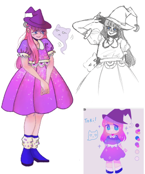 Dtiys contest entry  (pErSon's character) Illust of Clover digital witch pErSon DTIYS sketch personiscool dtiyschallenge