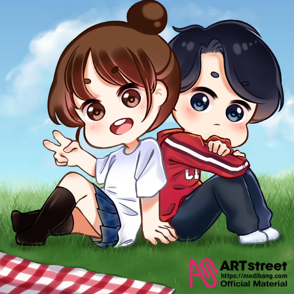 Picnic  Illust of Laiwa tracedrawing Trace&Draw【Official】 cute art chibi