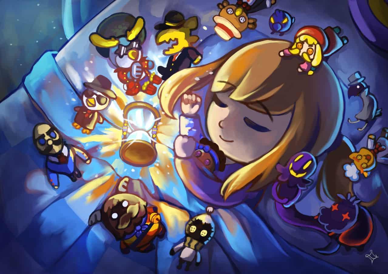 Good Night Hat Kid Illust of Licialurie goodnight chibi hatkid sleep ahatintime