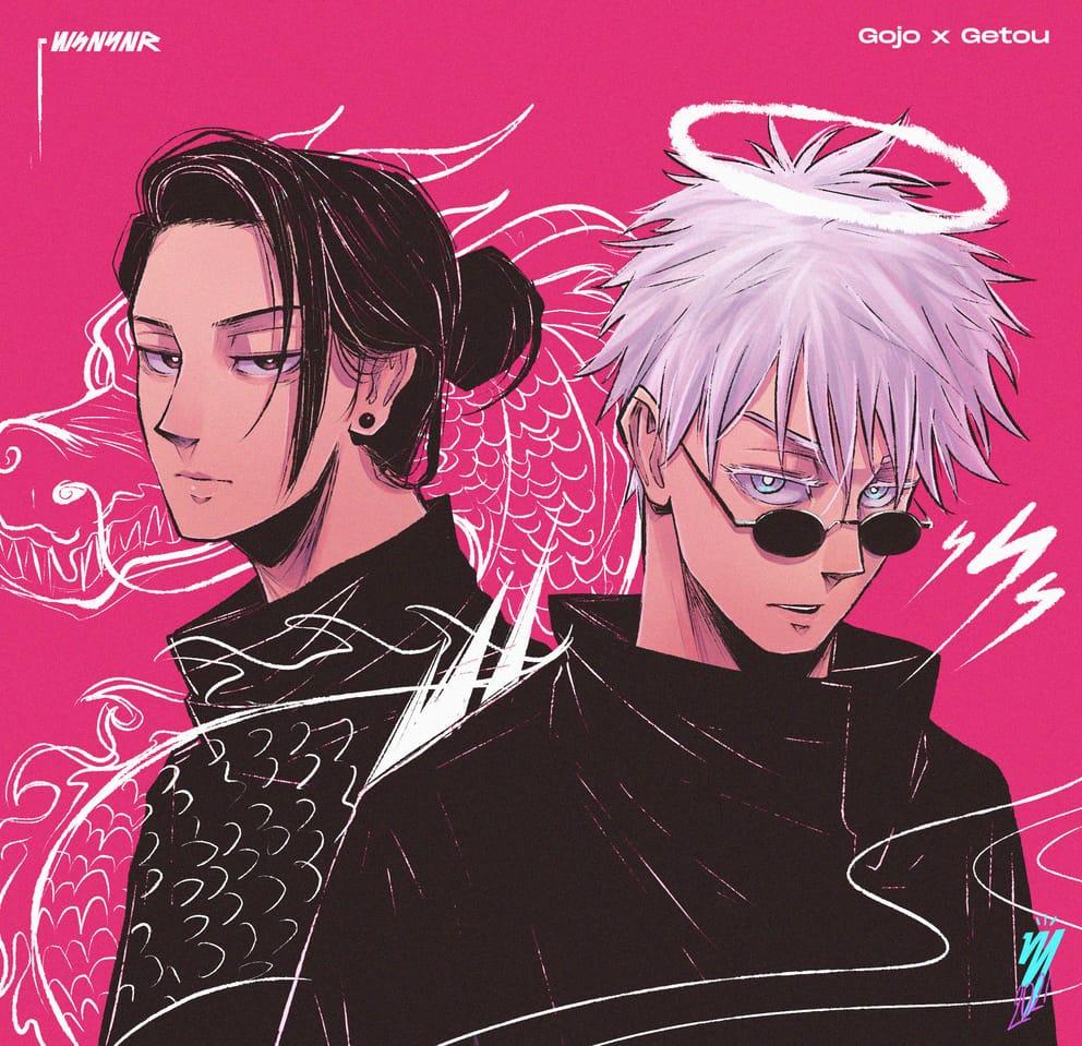 The Strongest Duo Illust of Wsnynr JujutsuKaisenFanartContest JujutsuKaisen anime Yuji_Itadori SatoruGojō manga GetoSuguru Megumi_Fushiguro Nobara_Kugisaki