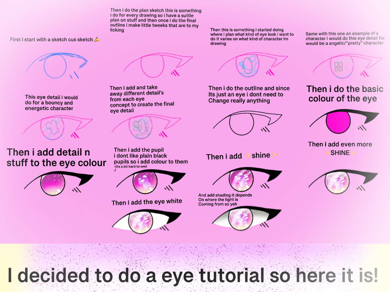 Eye tutorial  Illust of 🌸~Sakura~🌸~Cherry blossom Mode The_Challengers SHINee tutorial eyetutorial outline