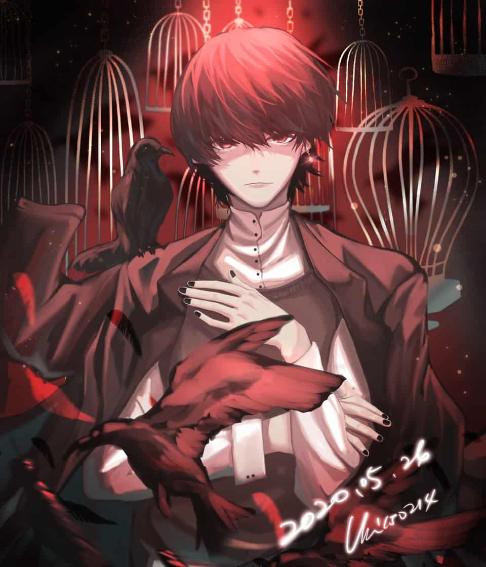 烏鴉 Illust of uni150214 鴉 original red