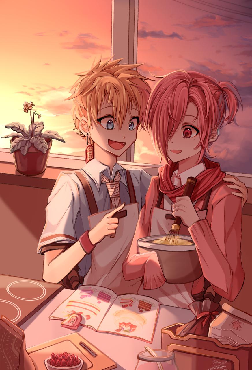 料理 Illust of ShimayaEiko portrait art hanakokun fanart boy anime illustration sunset love cute