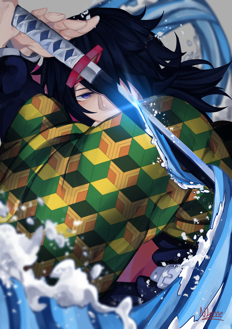 水の呼吸 Illust of Nappo-Lynne medibangpaint fanart KimetsunoYaiba anime TomiokaGiyuu