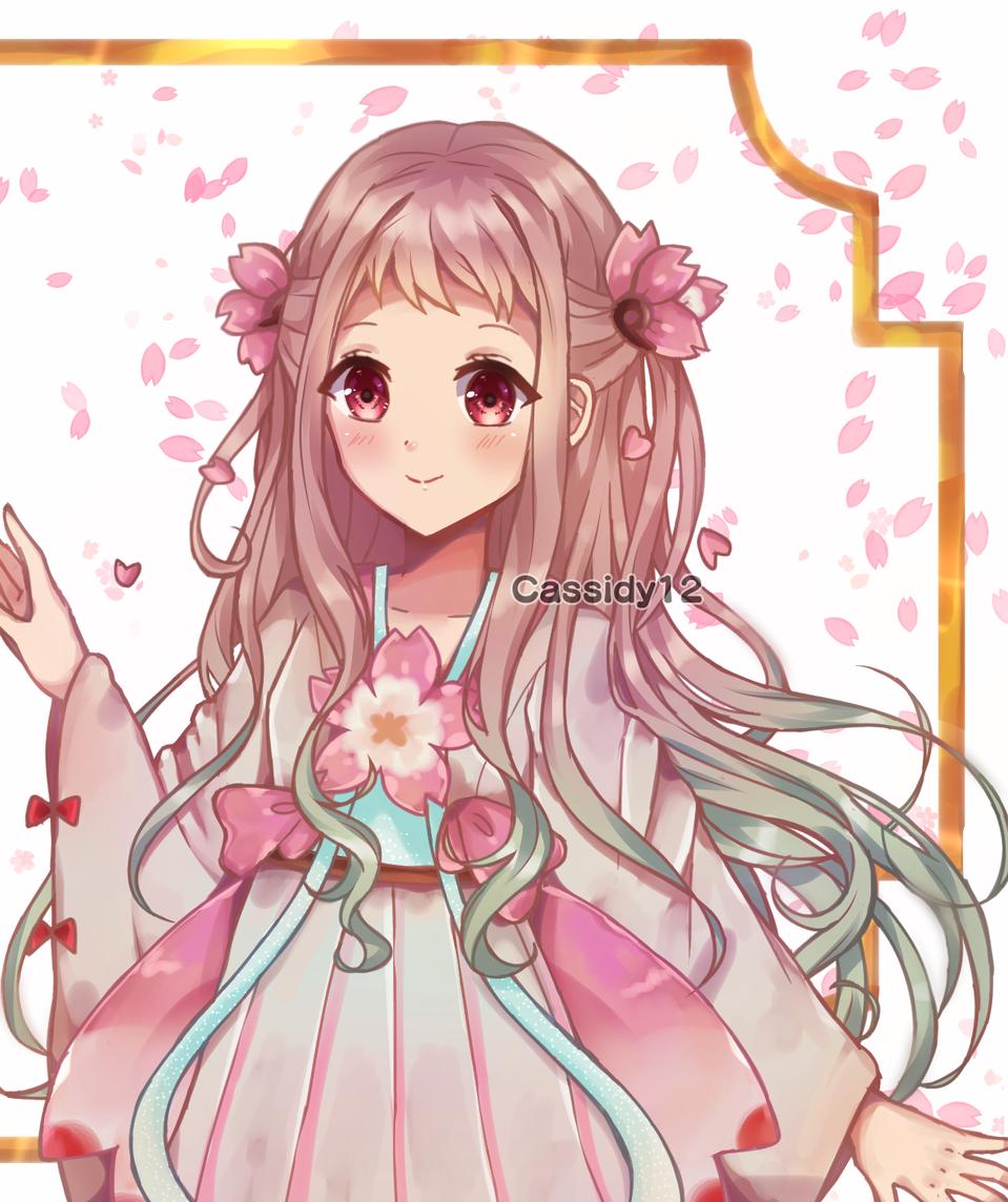 Nene Illust of Cassidii12 medibangpaint Artwork Toilet-boundHanako-kun cherryblossom animegirl digitalarts NeneYashiro