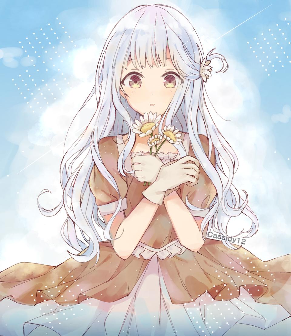 Daisy Illust of Cassidii12 medibangpaint cute dtiys fanart redraw flowers art Artwork animegirl digital